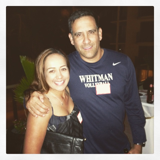 Got to hang out with my cousin Matt today :) #whitmancollege #volleyball #headcoach
