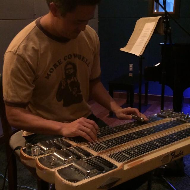 An amazing talent ... Jeff Au Hoy :) putting steel on my Tūtū's song,