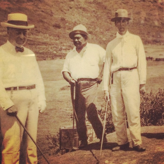 Happy 144th Birthday to Prince Kuhio ... Here he is golfing at Oahu Country Club !!!